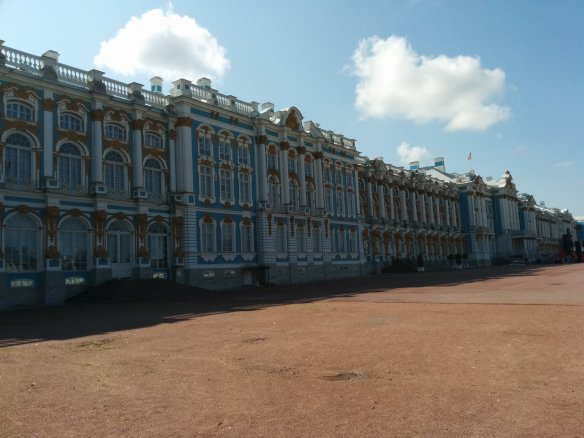 Many assume the palace is named for Catherine the Great, but it's actually for Catherine the 1st, Catherine the Great's grandmother-in-law. Her mother-in-law, Elizabeth razed the original palace and rebuilt it to her own taste.